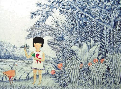 Little Girl in Rousseau World - Suzanne Chim